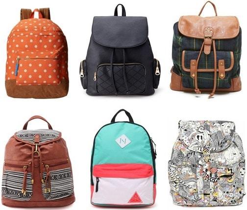 Trendy backpacks under