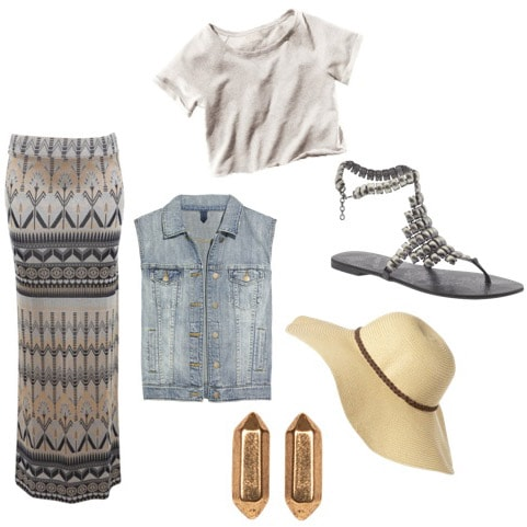 Trendy denim vest outfit
