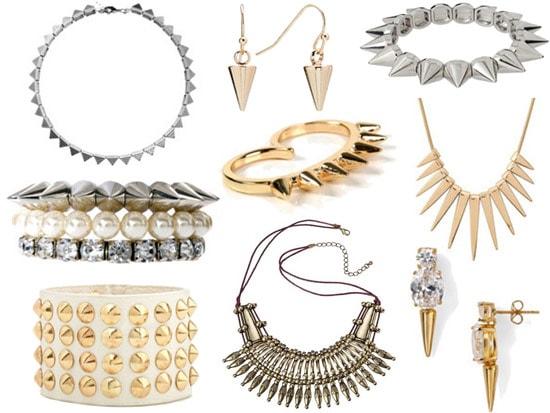 Trendy spike jewelry