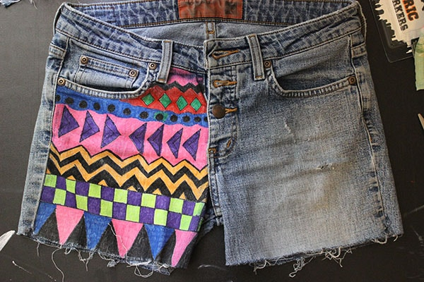 Geometric shorts finished project