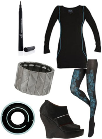 Fashionable outfit inspired by the grid in Tron Legacy