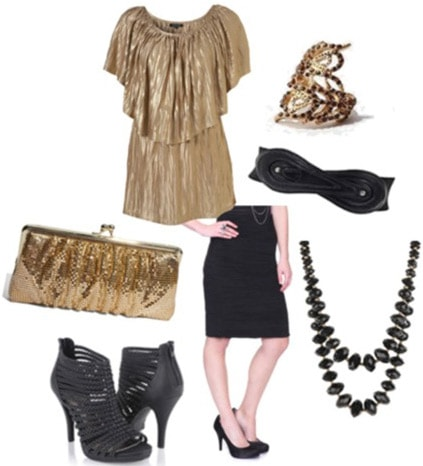 Fashionable outfit inspired by Olivia Wilde's dress at the premiere of Tron Legacy