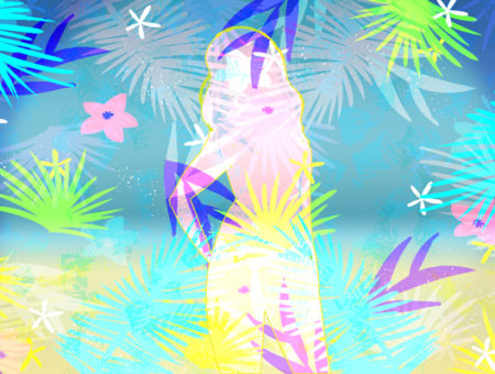 Tropical print illustration by Stacey Abidi