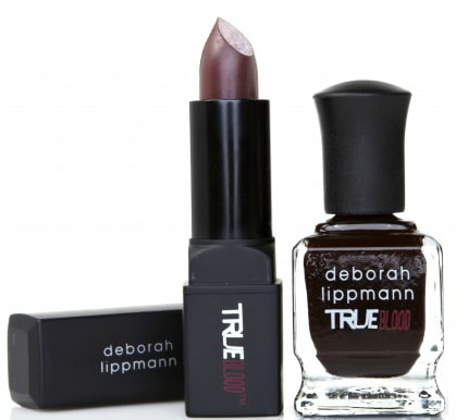 true blood Deborah Lippmann nail polish-lipstick set