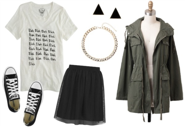 Tulle skirt outfit 1