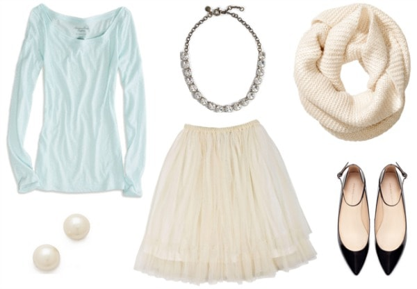 Tulle skirt outfit 2