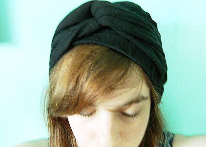 Turban made from leggings