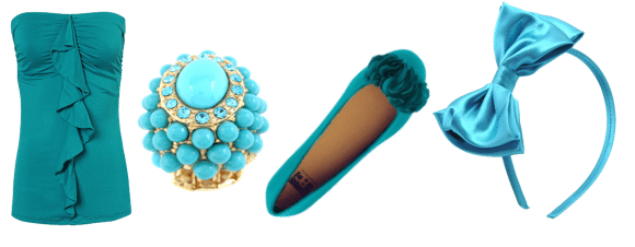 Turquoise clothing and accessories