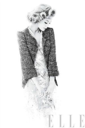 Tweed jacket, dress