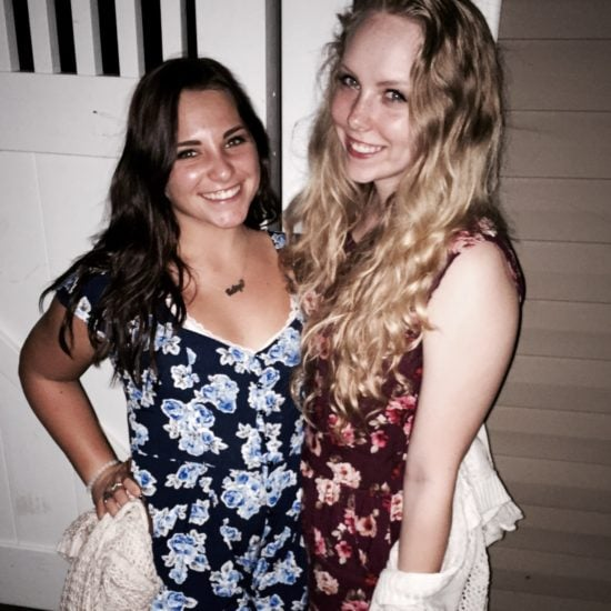 Two girl-friends at a party