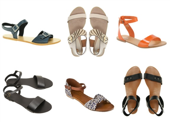 two strap flat sandals spring 2012 shoe trend