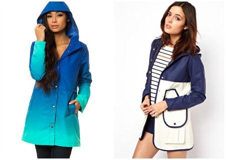 Two rain jackets