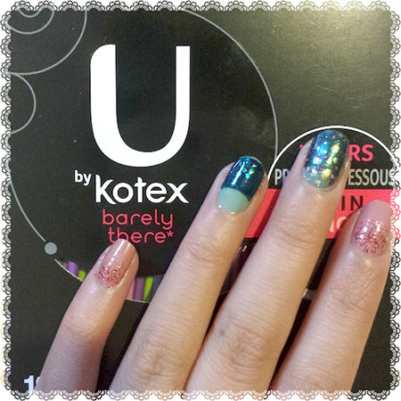 New Year's Eve Nail Art - Sponsored by U by Kotex