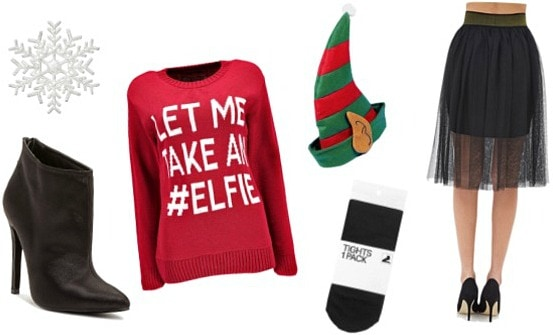 Ugly Christmas sweater look 2