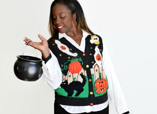 Ugly Halloween Sweater Etsy