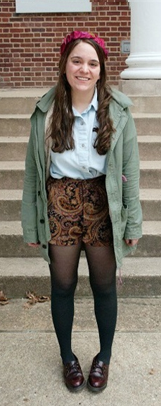 College street style at University of Maryland College Park - boho chic trend