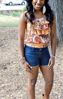 College fashionista from University of North Carolina Chapel Hill