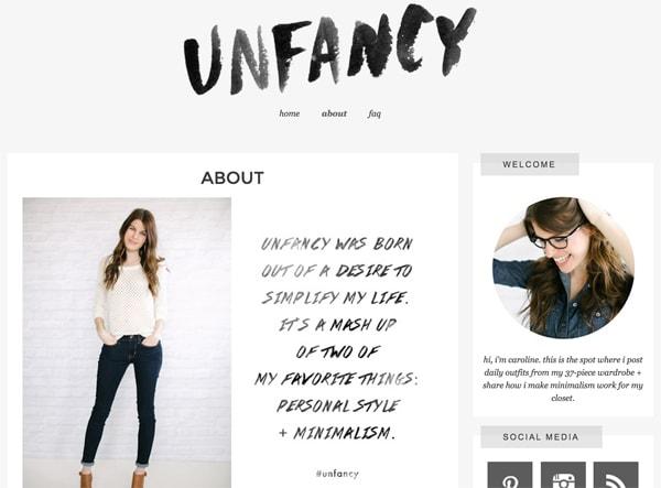 Unfancy homepage copy