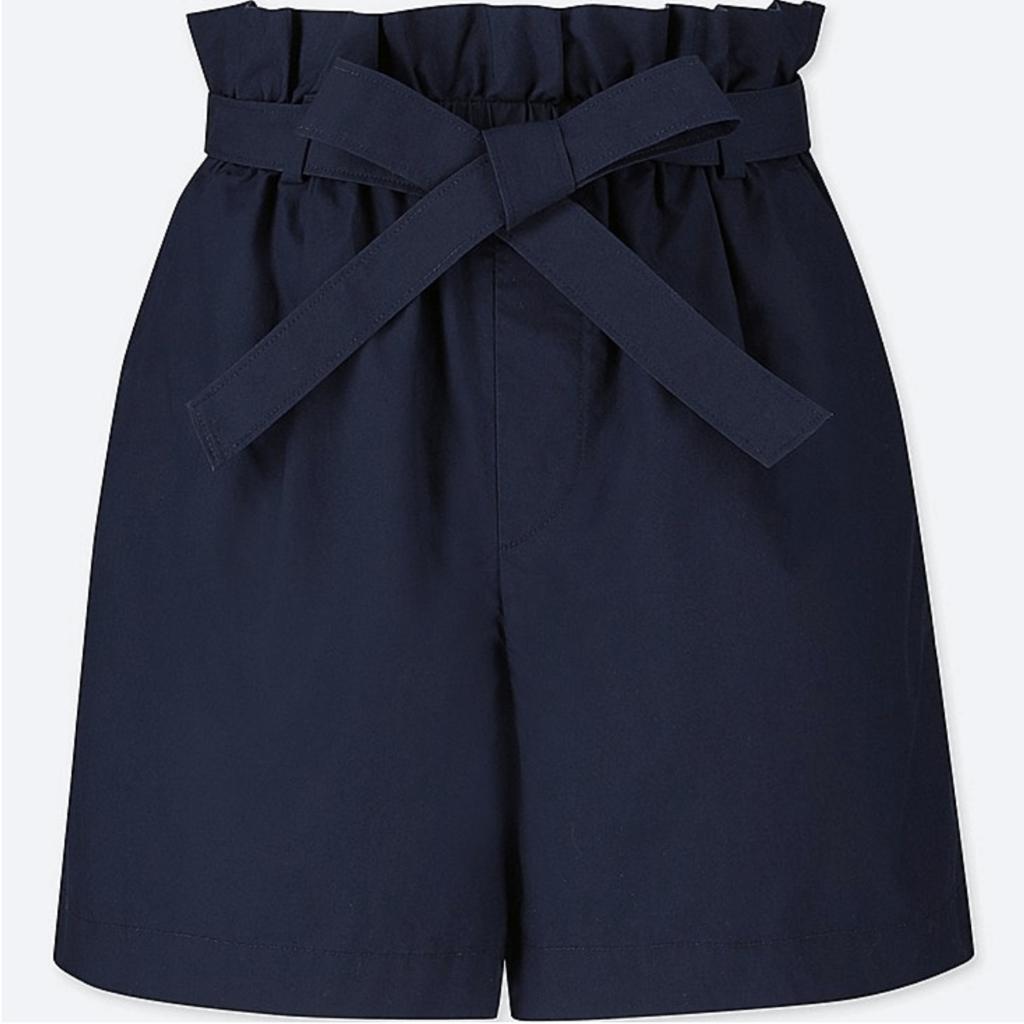 Uniqlo navy paper bag shorts