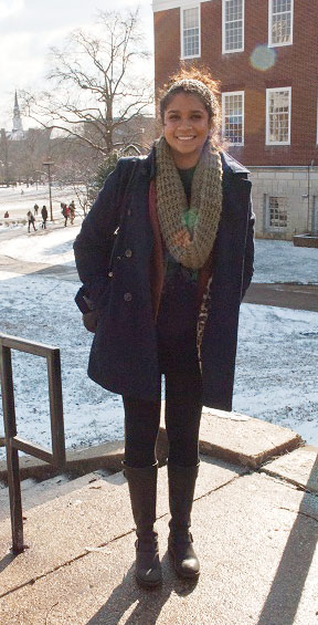 College student fashion at the University of Maryland College Park