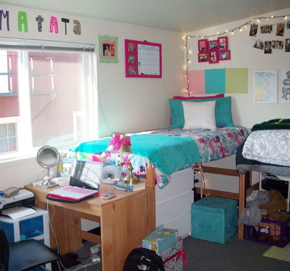Girly college dorm room at the University of Oregon