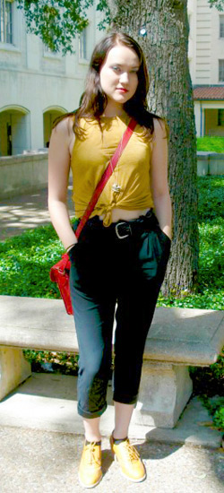 A college fashionista's street style at University of Texas at Austin