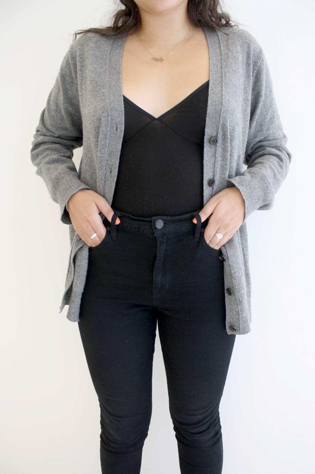 Bodysuit and cardigan - University of Toronto street style