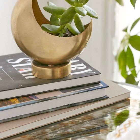 Gold half moon planter from Urban Outfitters