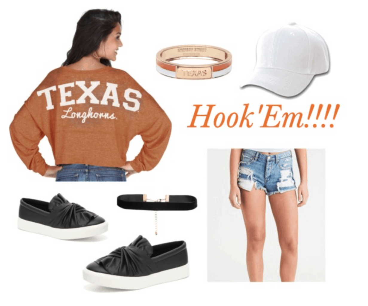UT Austin tailgating outfit idea