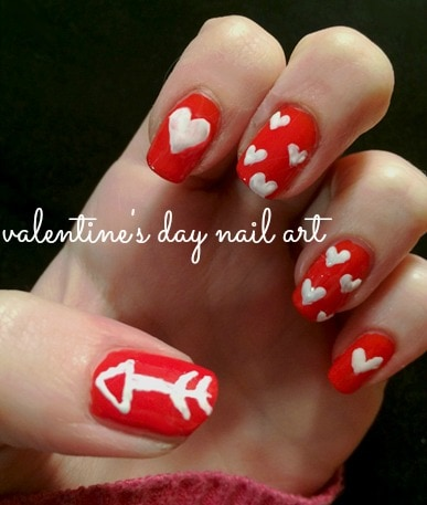 nail art tutorial easy valentine's day nails  college