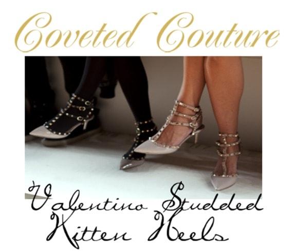 valentino studded kitten heels