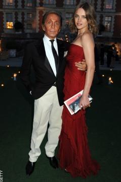 Valentino and Natalia Vodianova