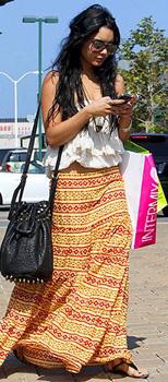 Vanessa Hudgens in a Maxi Skirt
