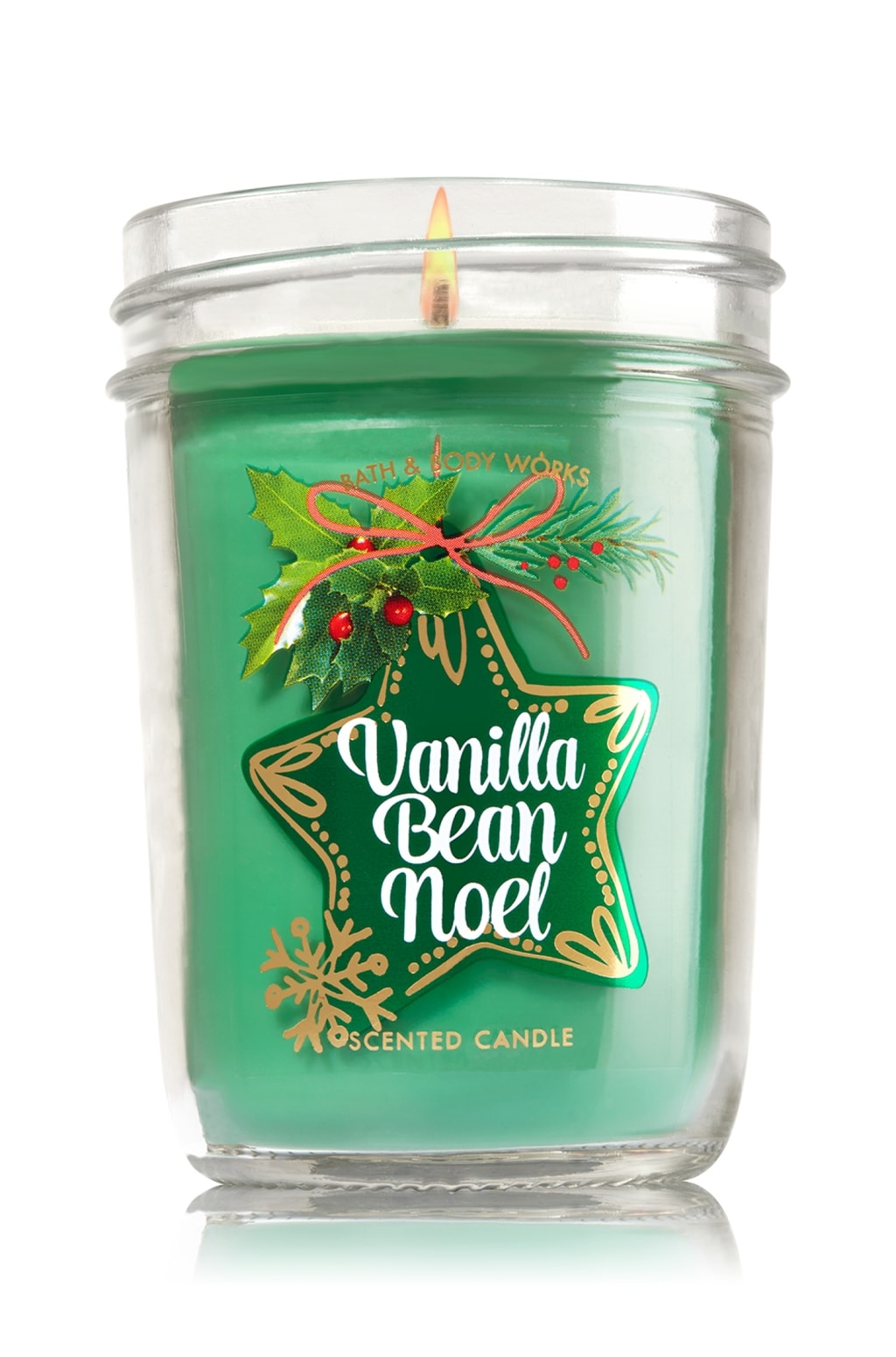 Bath and Body Works Vanilla Bean Noel medium candle