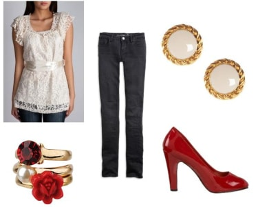A glamorous Valentines Day Outfit