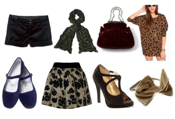 Velvet Clothing and Accessories