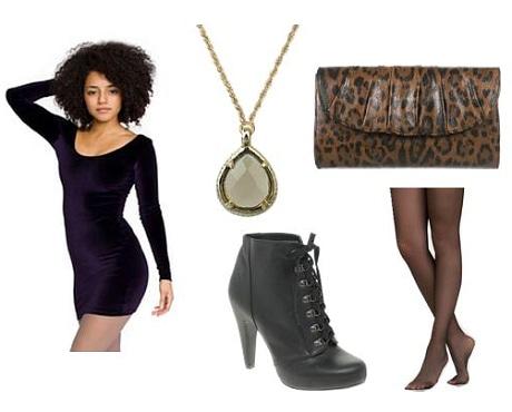 Velvet Dress Outfit