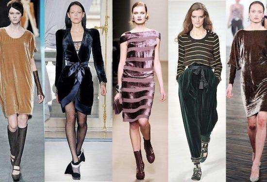 Velvet fashion trend