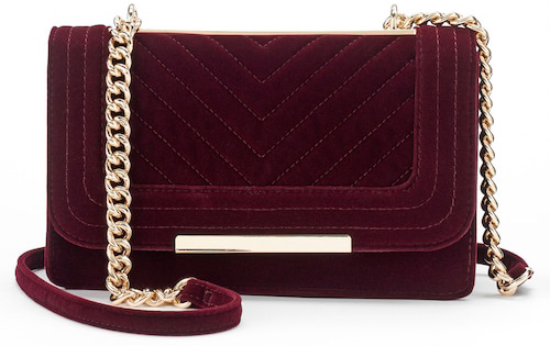 Velvet shoulder bag