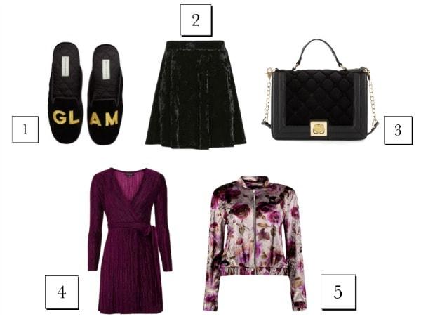 5 velvet items