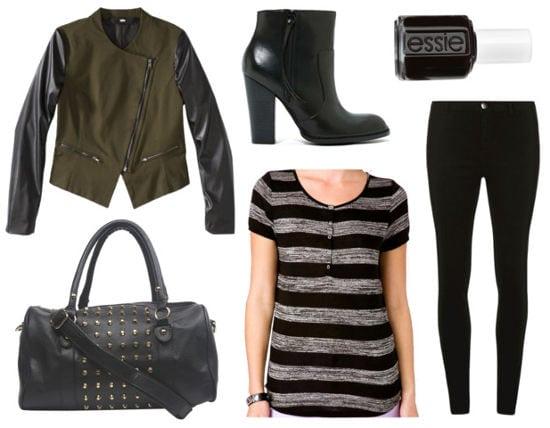 Veronica mars movie black jeans moto jacket