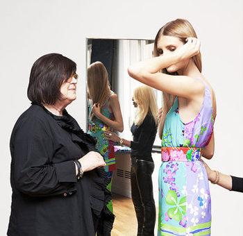 Margareta van den Bosch and Donatella Versace