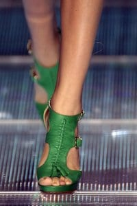 Gladiator Heels at Versace Spring 2008 RTW - Detail Shot