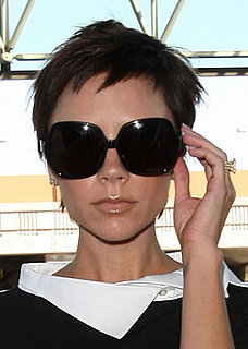 Victoria Beckham wearing oversized sunglasses