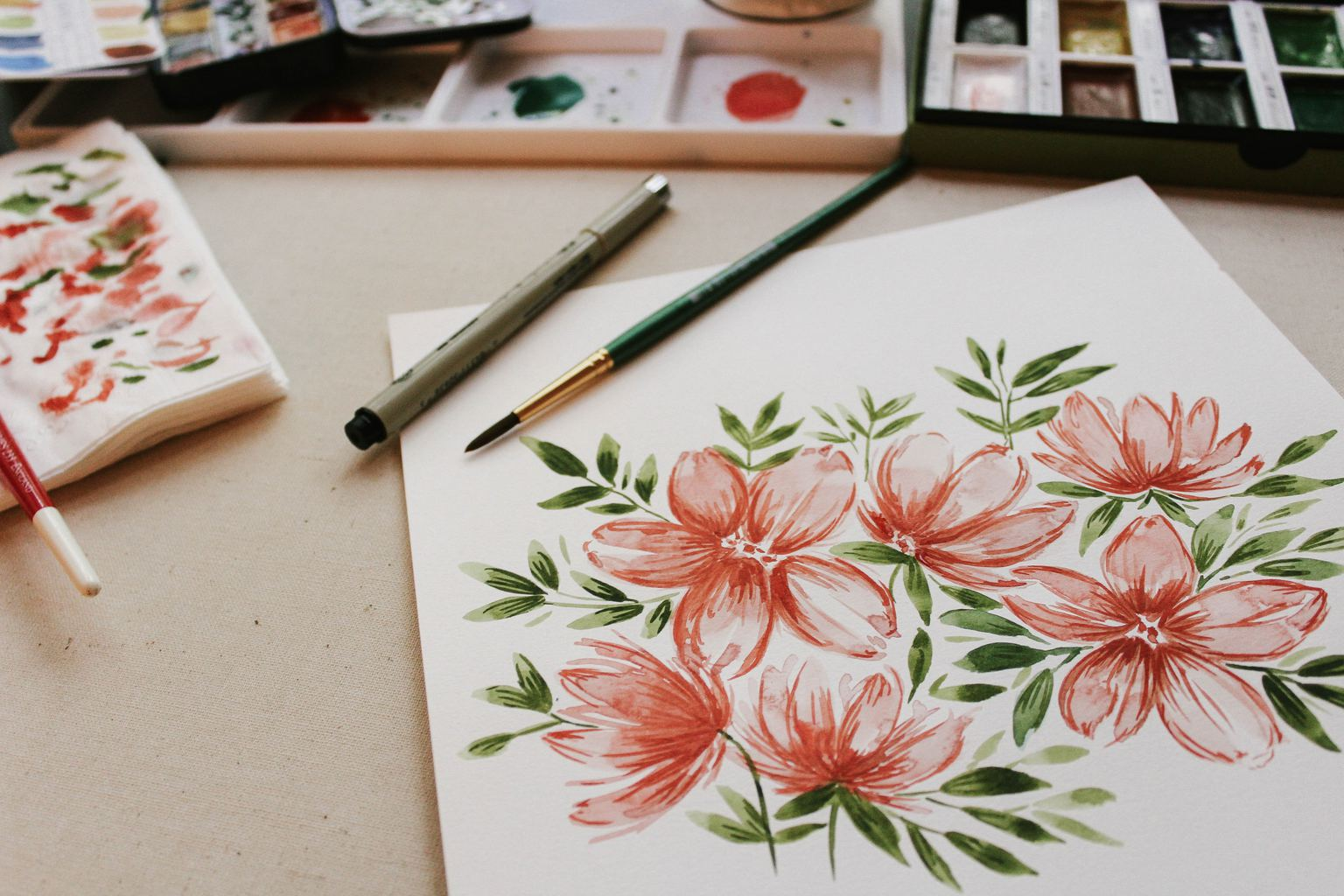 painting, art, diy, flowers, paint