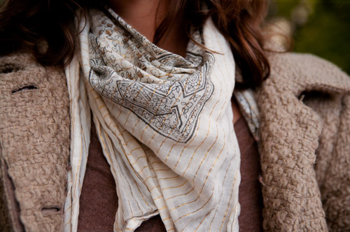 Fall scarf on Victoria, a college fashionista