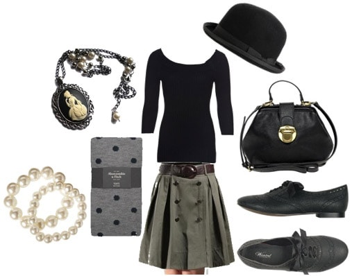 Vintage-inspired way to wear a full skirt