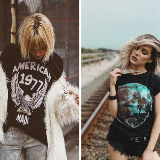 How to style vintage tees: 2 outfit ideas