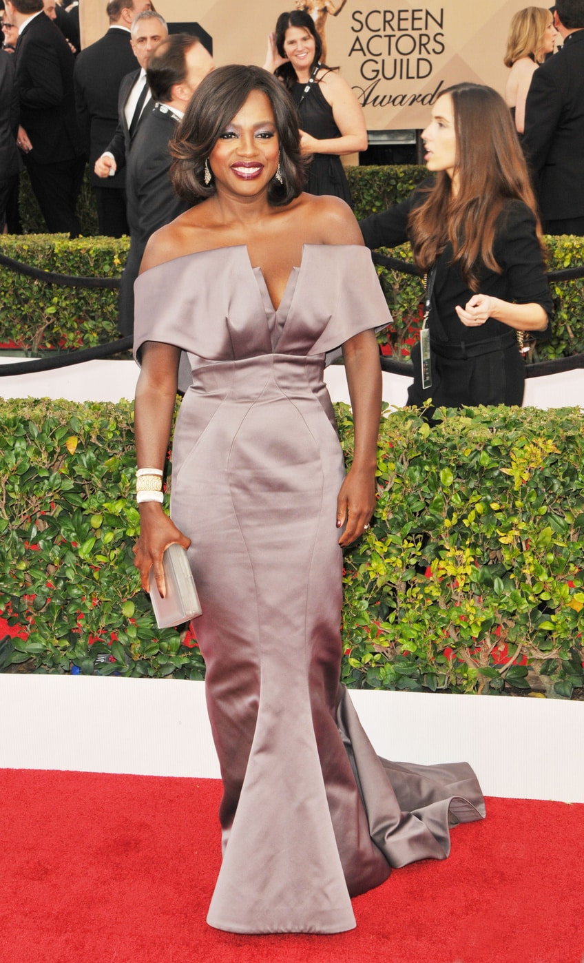 Viola Davis in Zac Posen at the 2016 SAG Awards