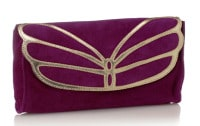 Violet and gold clutch